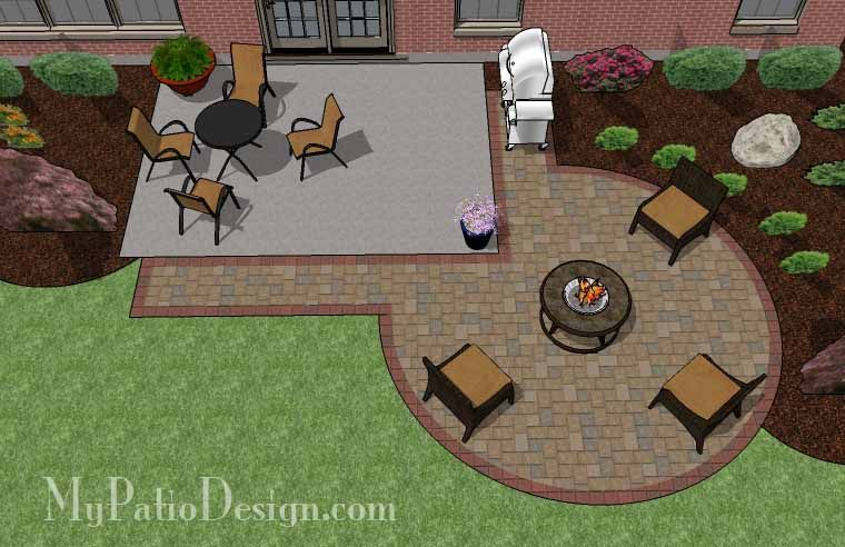 240 Sq Ft Diy Circle Patio Addition Design With Grill Pad Circle Patio Patio Addition Backyard Patio