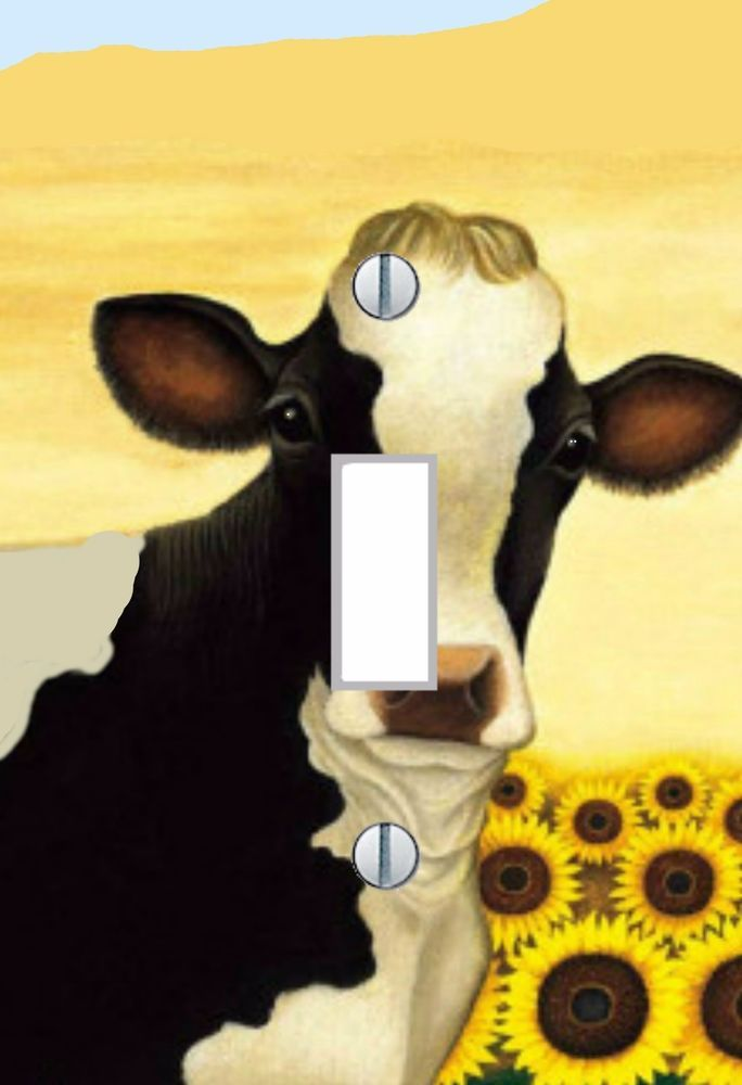 cows rustic country cows wall art LIGHT SWITCH PLATE cover Farm ...