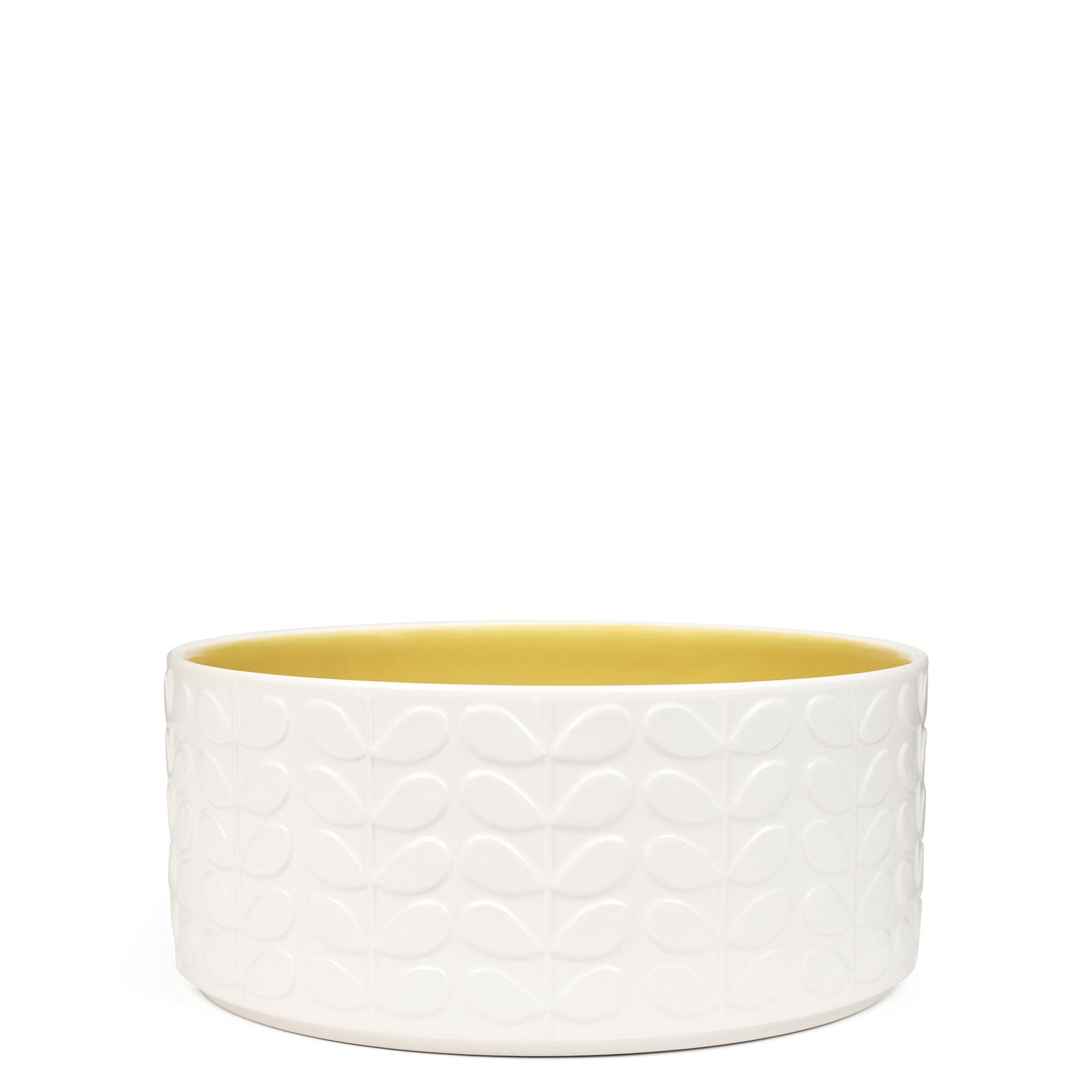Orla Kiely This Ceramic Salad Bowl With Raised Stem
