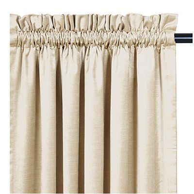 Lucerne Rod Pocket Curtain With Header Ocean 108 X 48