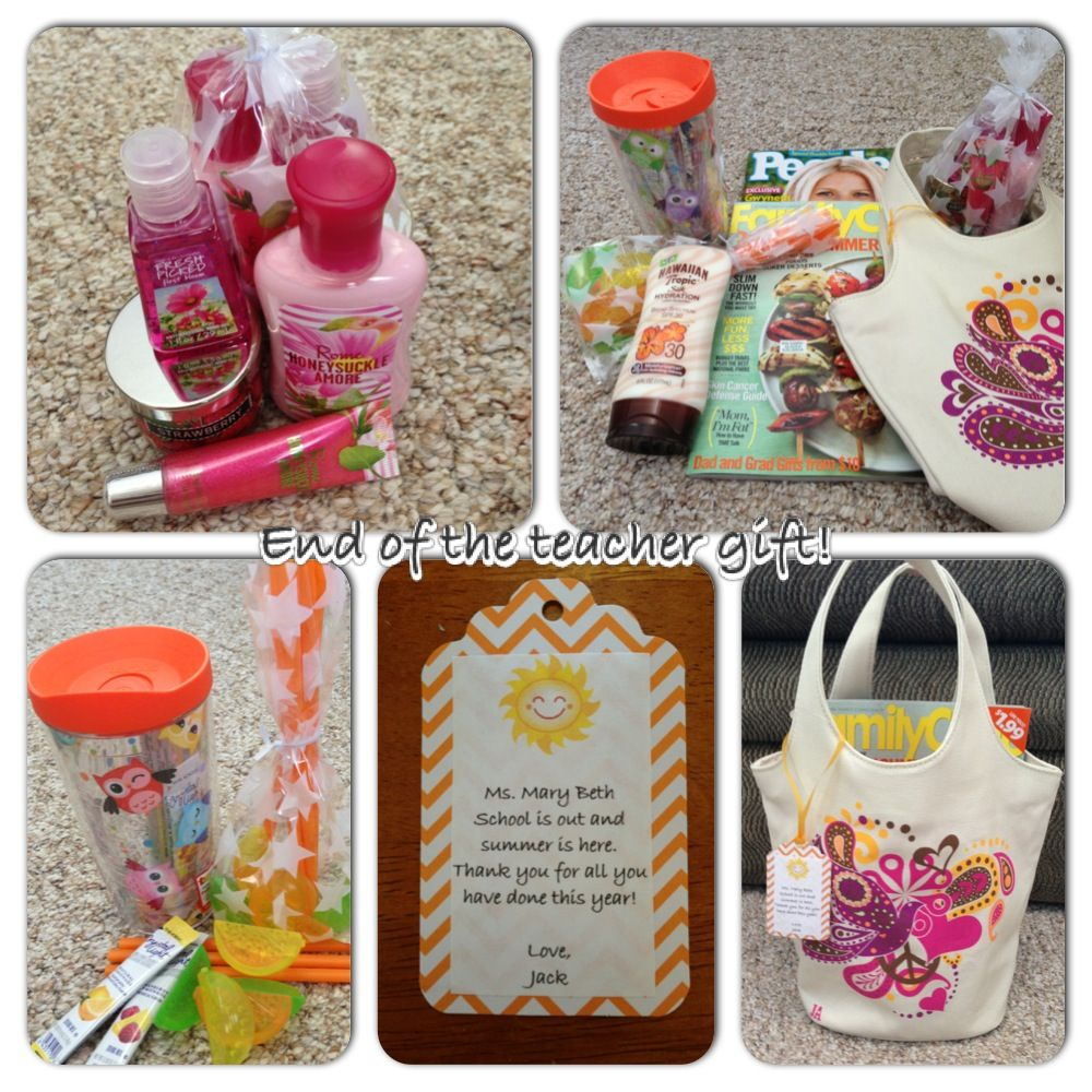 End Of The Year Teacher Gift Bath Body Works Goodie Bag Lotion