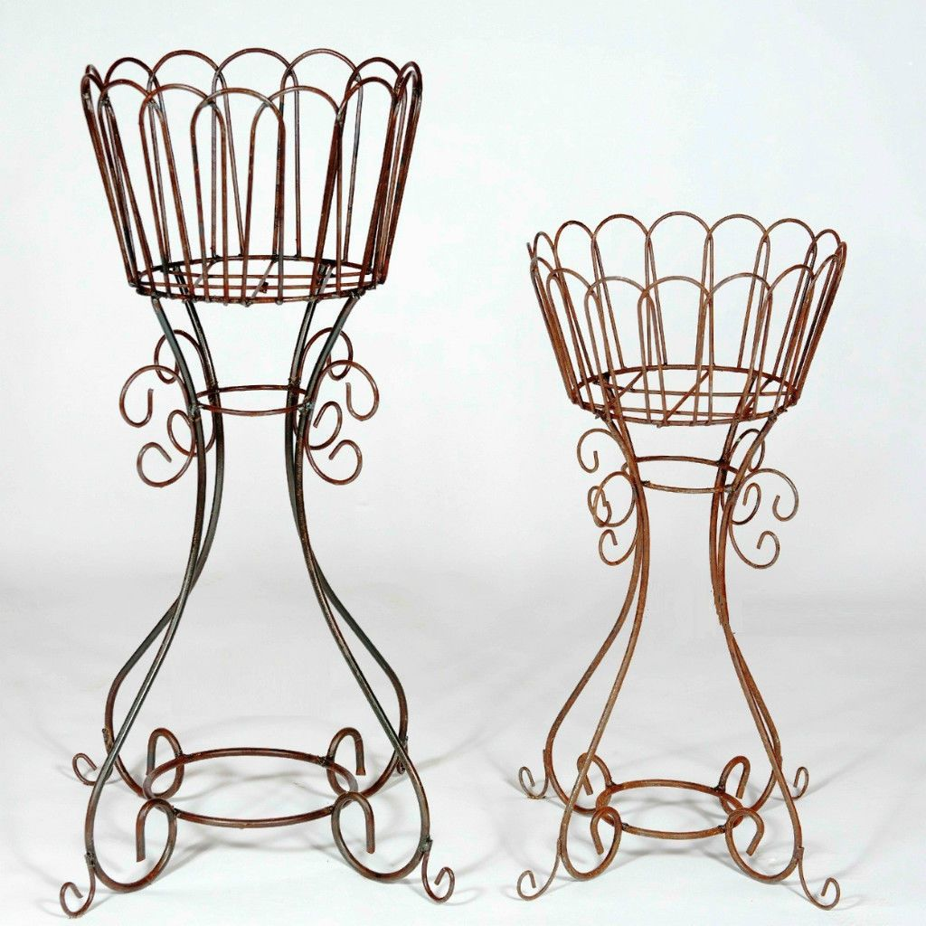 Tall Wrought Iron Plant Stands 30 Wrought Iron Egg Plant Stand Metal Flower Basket Holder