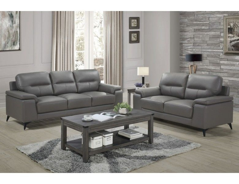Zoso Modern Grey Leather Living Room Grey Leather Sofa Living Room Leather Sofa Living Room Living Room Grey