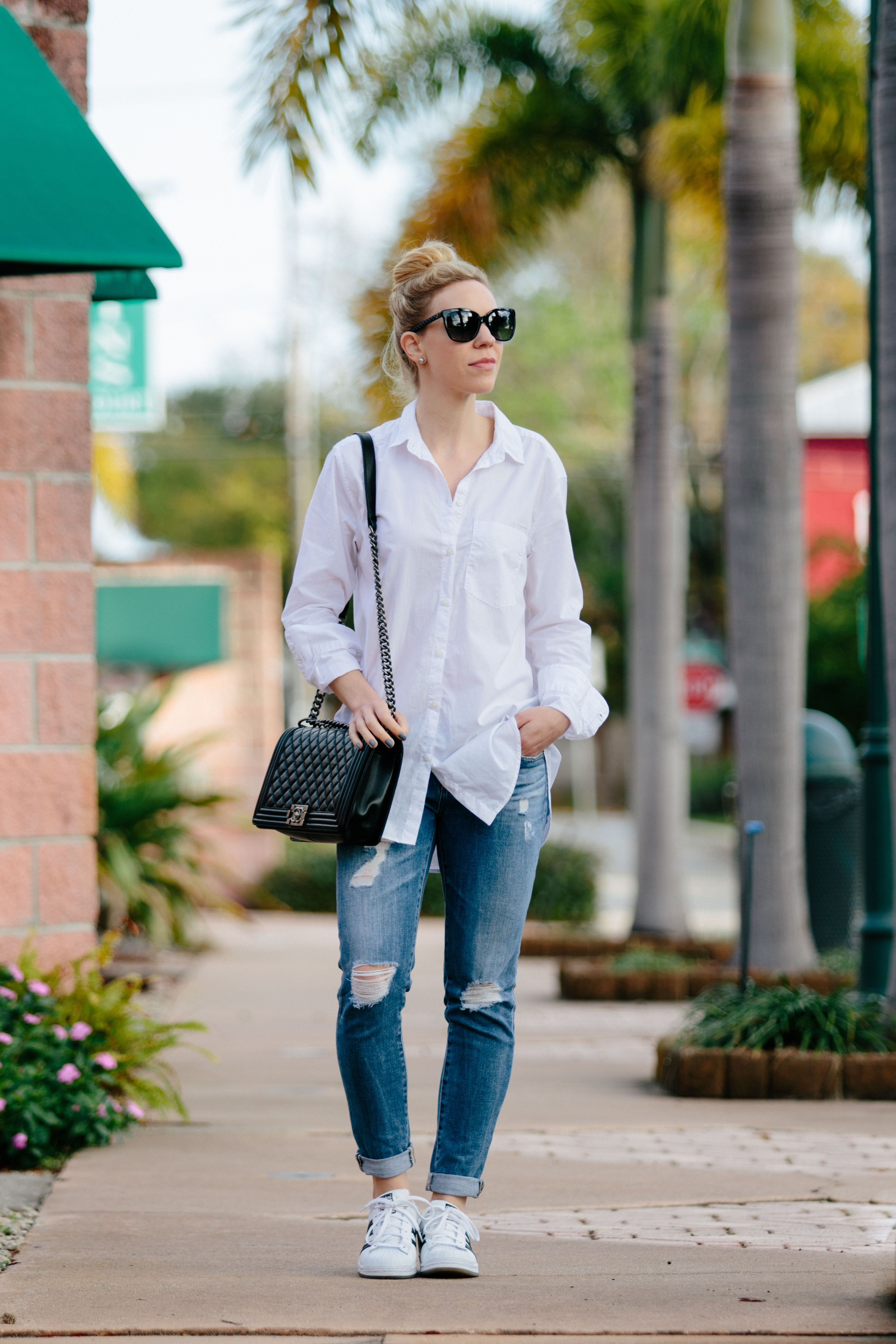 Button-Down Shirt Sneakers