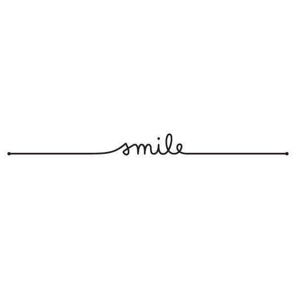 Whether you want to express how genuinely happy you are or deflect a potentially bad situation, Just Smile is the perfect mantra for all kinds of occasions. Lila Symon's beautiful Tattly is drawn like