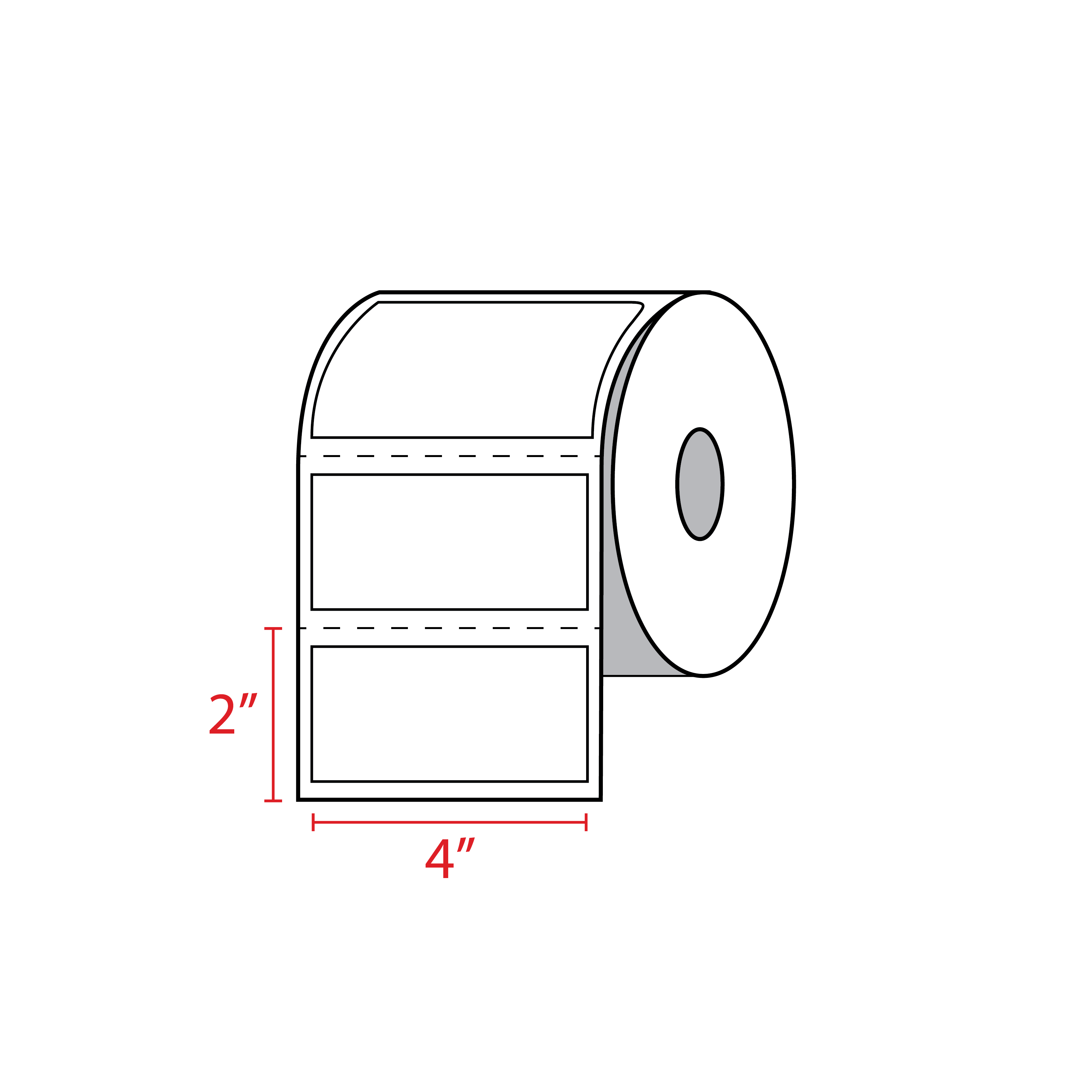 "Compatible Thermal Master: 4"" X 2"" Zebra Compatible Labels (450/Roll)"