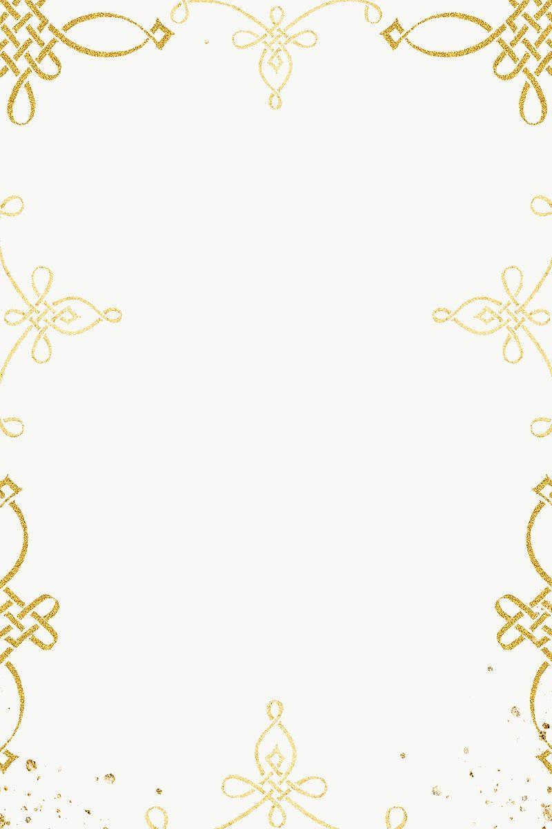 Gold Filigree Frame Border Png Free Image By Rawpixel Com Adj Gold Filigree Antique Artwork Free Illustrations