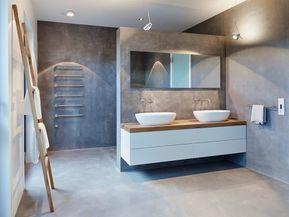 Ein Fugenloses Bad Gibt Ihrer Wohnung Den Letzten Schliff Badezimmer Zenideen Fugenloses Bad Waschtisch Mit Aufsatzwaschbecken Badezimmer