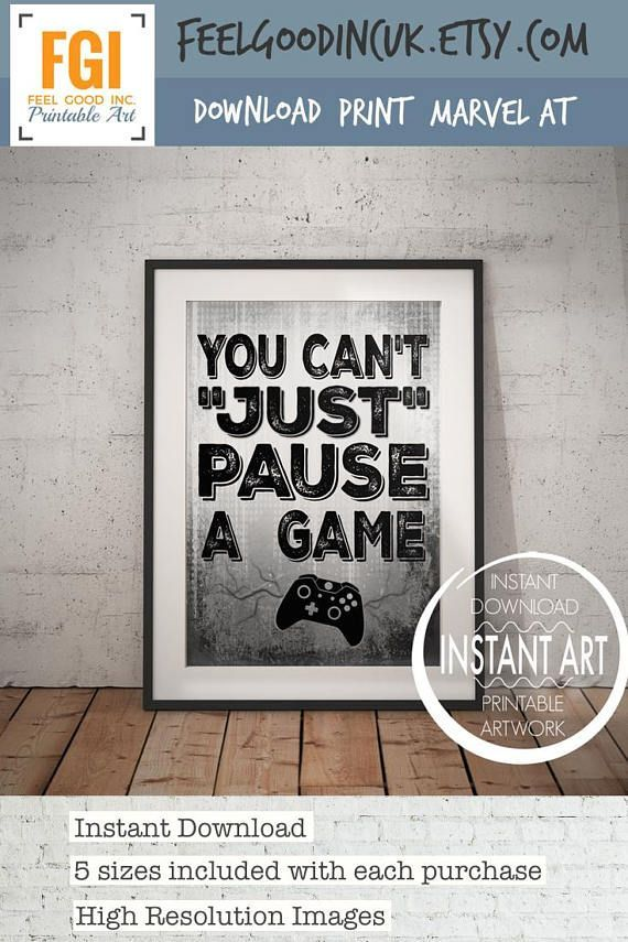 You Can't Just Pause a Game  VIDEO GAME POSTER  XBox Controller  Video Game Wall Art  gaming Decor  Game room  Teenage bedroom  XBox is part of bedroom Teenage Scandinavian - FEELGOODINCUK  You will be the first to hear about my new collections, special offers, private events, upcoming sales and all the latest news  Join now! ♥︎ You Can't Just Pause a Game  VIDEO GAME POSTER  XBox Controller  Video Game Wall Art  gaming Decor  Game room  Teenage bedroom  XBox