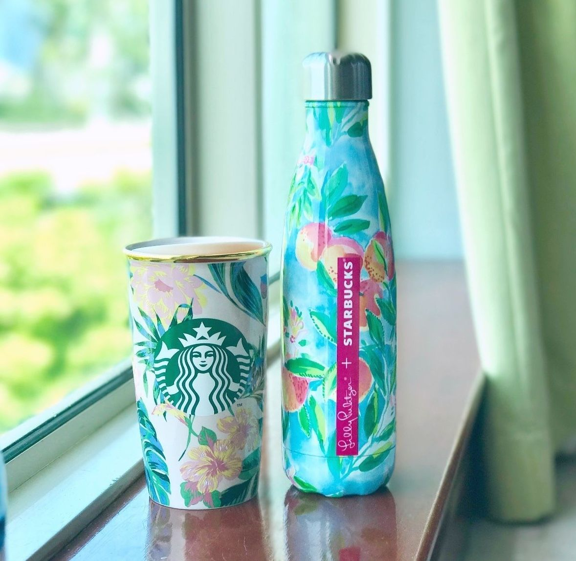 Bn Starbucks Bando Ban Do Floral Dw Traveler Mug Lilly Pulitzer