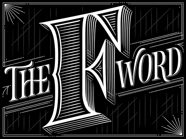 The Washington Post The F Word On Behance Typography Lettering Hand Lettering