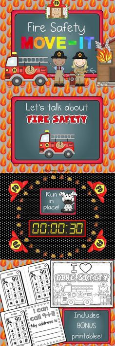 Fire Safety MOVE IT! #911craftsfortoddlers