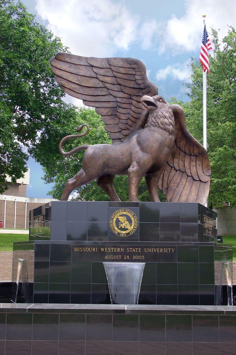 Bronze school macot bronze sculpture missouri western