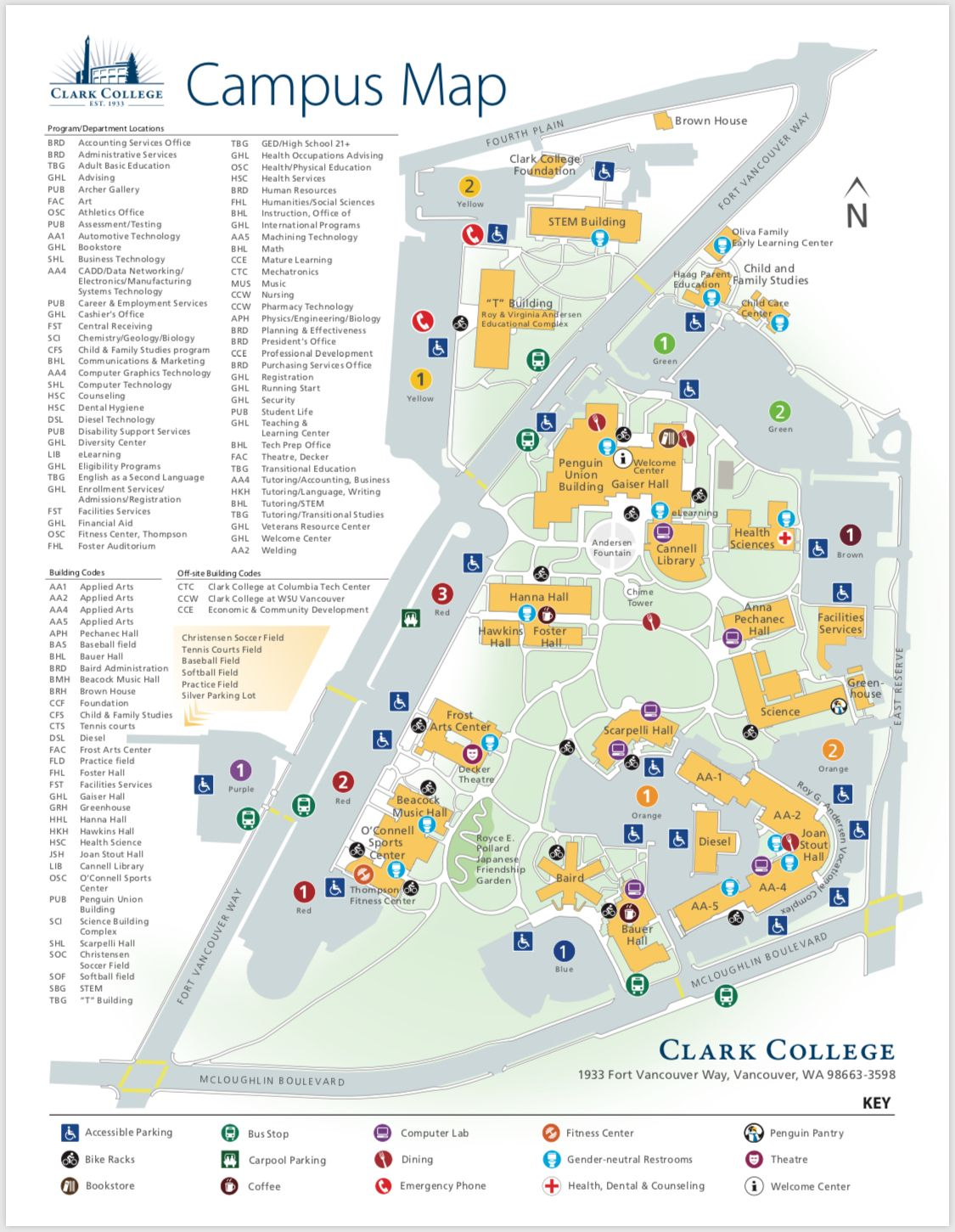 This Image Of The Clark College Campus Map Is A Great Example Of