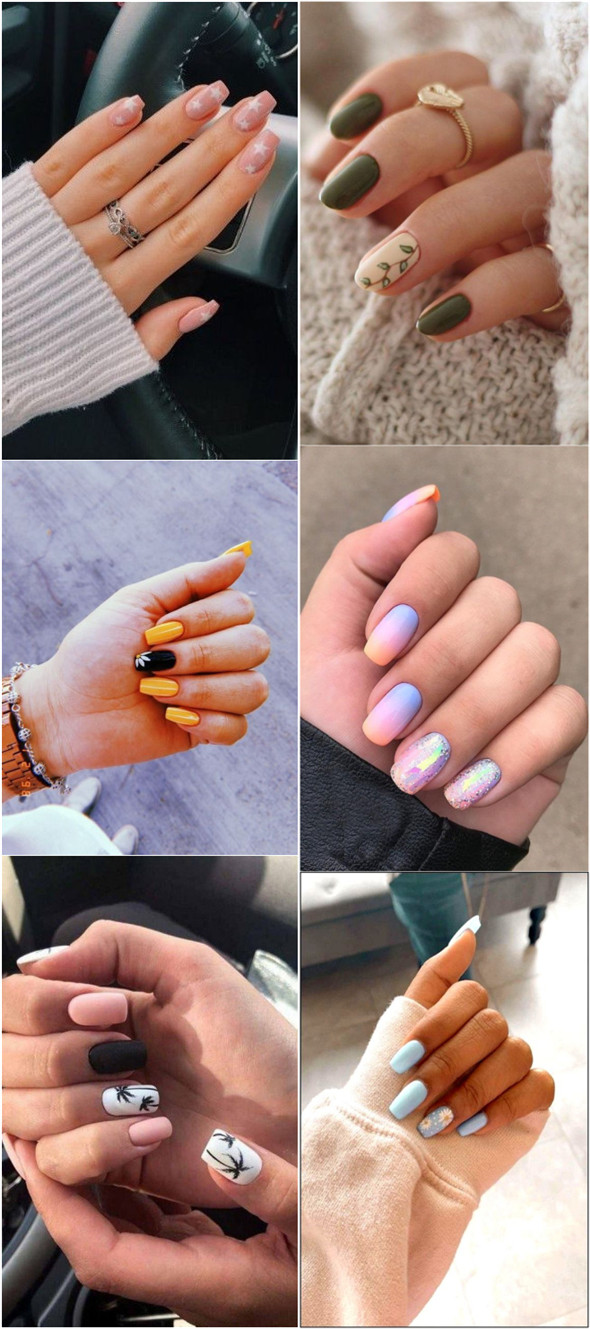 27 Chic And Stylish Summer Nail Design Ideas Fancy Ideas About Everything In 2020 Nail Designs Summer Summer Nails Nail Designs