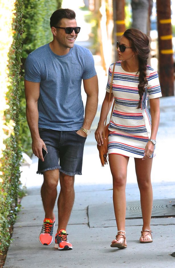 404c652e6b Mark Wright and Michelle Keegan walk hand-in-hand in Los Angeles as  honeymoon…