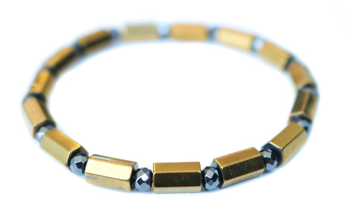 A Hint of Sparkle Bracelet - in gunmetal and gold