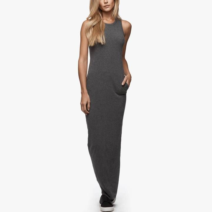 https://goo.gl/SS8VNc #style #blogger #fashion #chic #vsco Sleeveless Pocket Maxi Dress