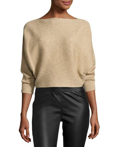 Cafe Parfait Ribbed Top, Beige