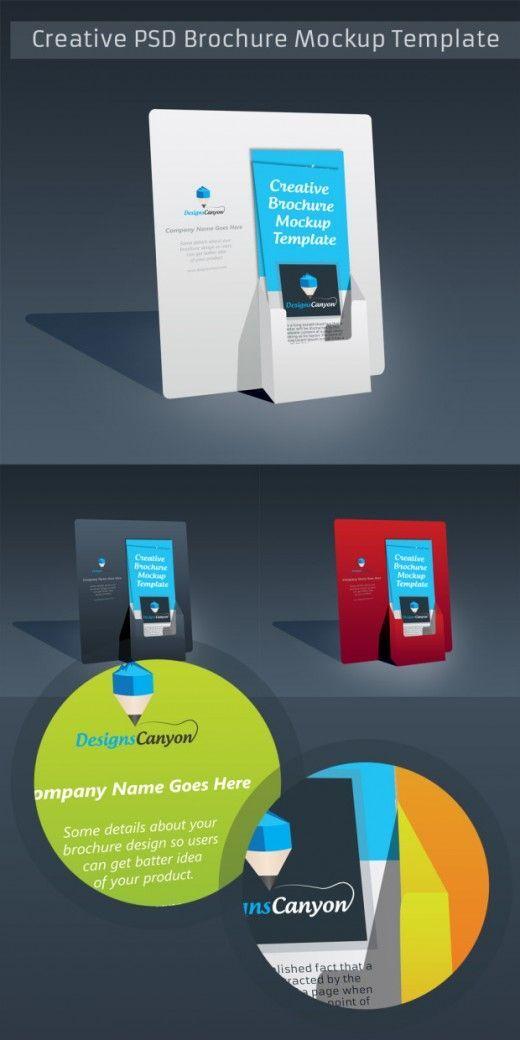 PSD Brochure Holder Mockup Template Free Download ...