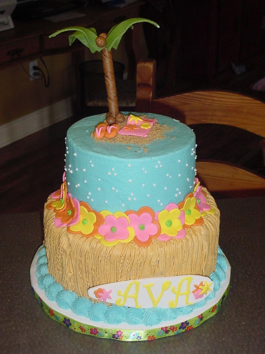 Luau Birthday Party Luau Birthday Cakes Luau Birthday
