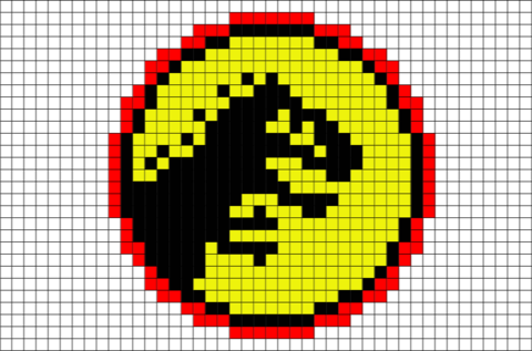 Jurassic Park Pixel Art | perler bead ideas | Jurassic park