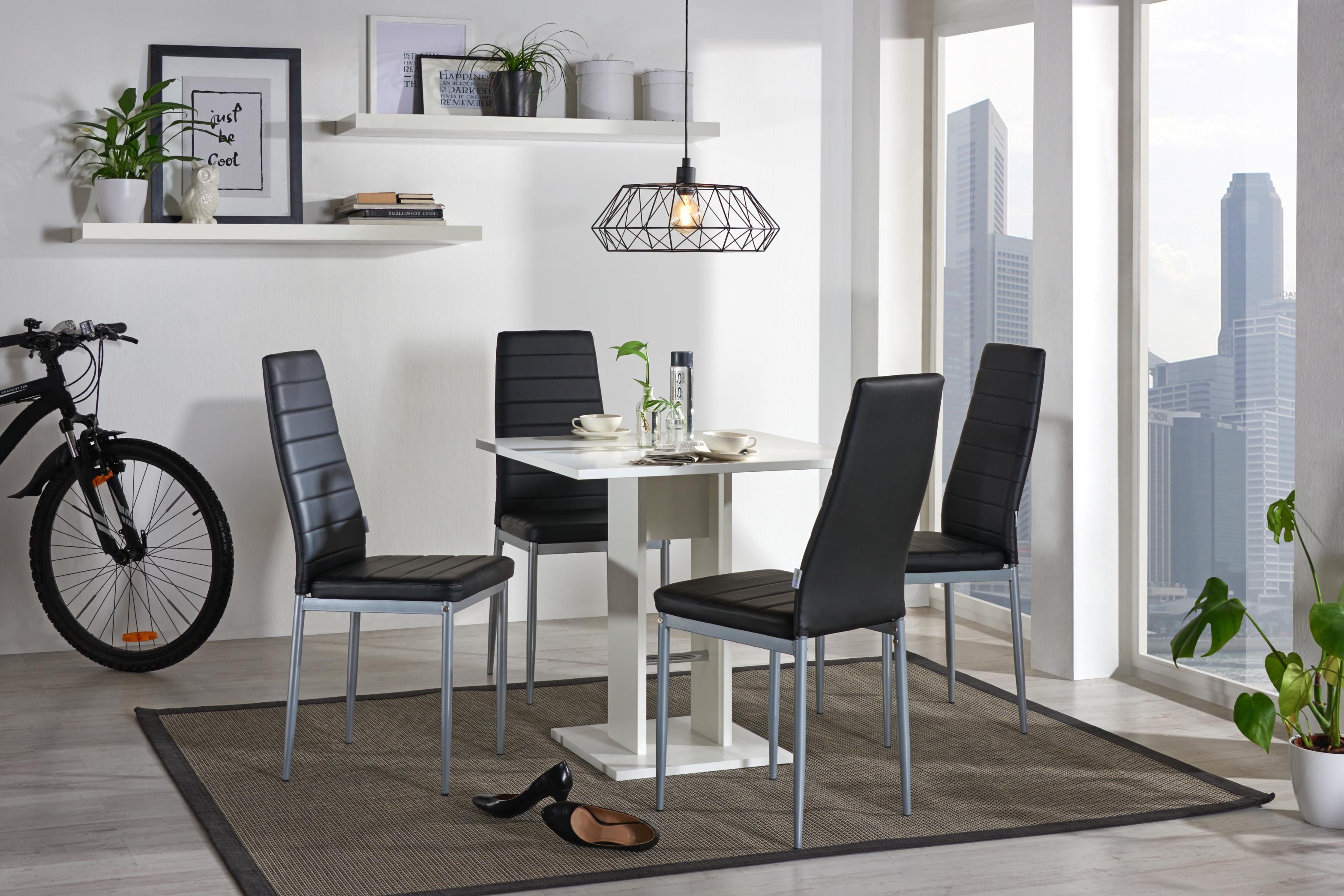 Ideal Für Kleine Räume: Platzsparender Esstisch In Weiß