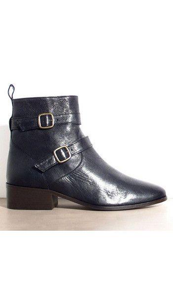 332a4102297b8e NOUVELLE COLLECTION Sessùn : les bottines Kan en cuir sont à découvrir dans  notre boutique des