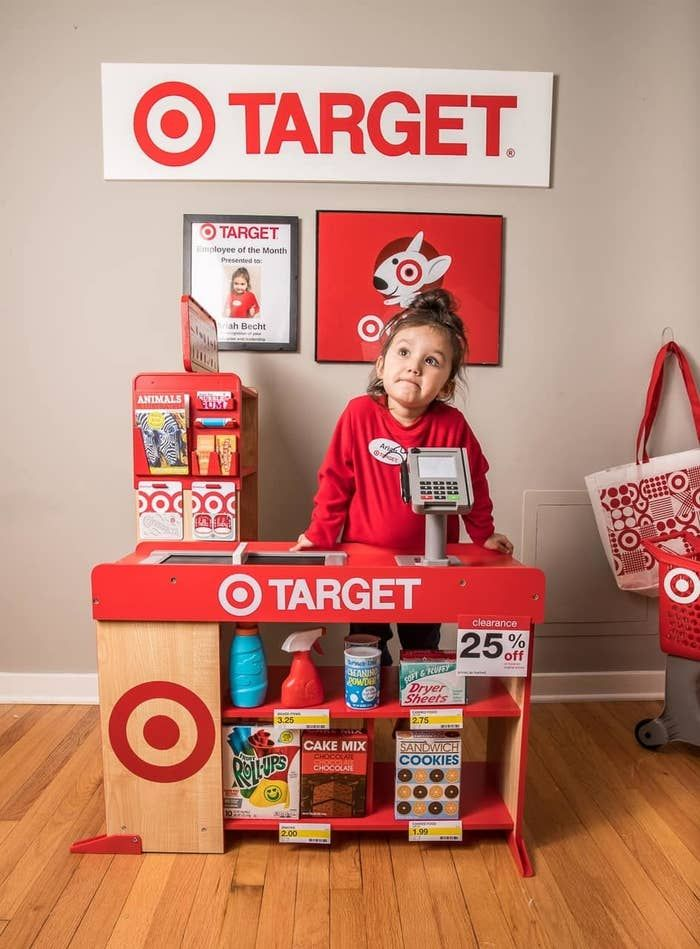 And recently, Milwaukee mom Renée Doby-Becht decided to surprise her 3-year-old by DIY'ing a kid-sized version of her favorite store: Target! This Mom Built Her Kid A Target & Starbucks Playroom (And It's Amazing)