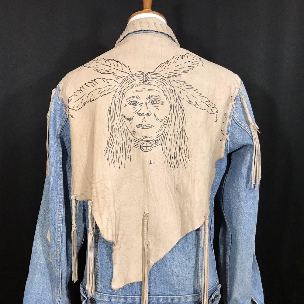 Vintage Levis Trucker Type Lll Jacket Native American Wearable Art Tribal [ 1000 x 1000 Pixel ]