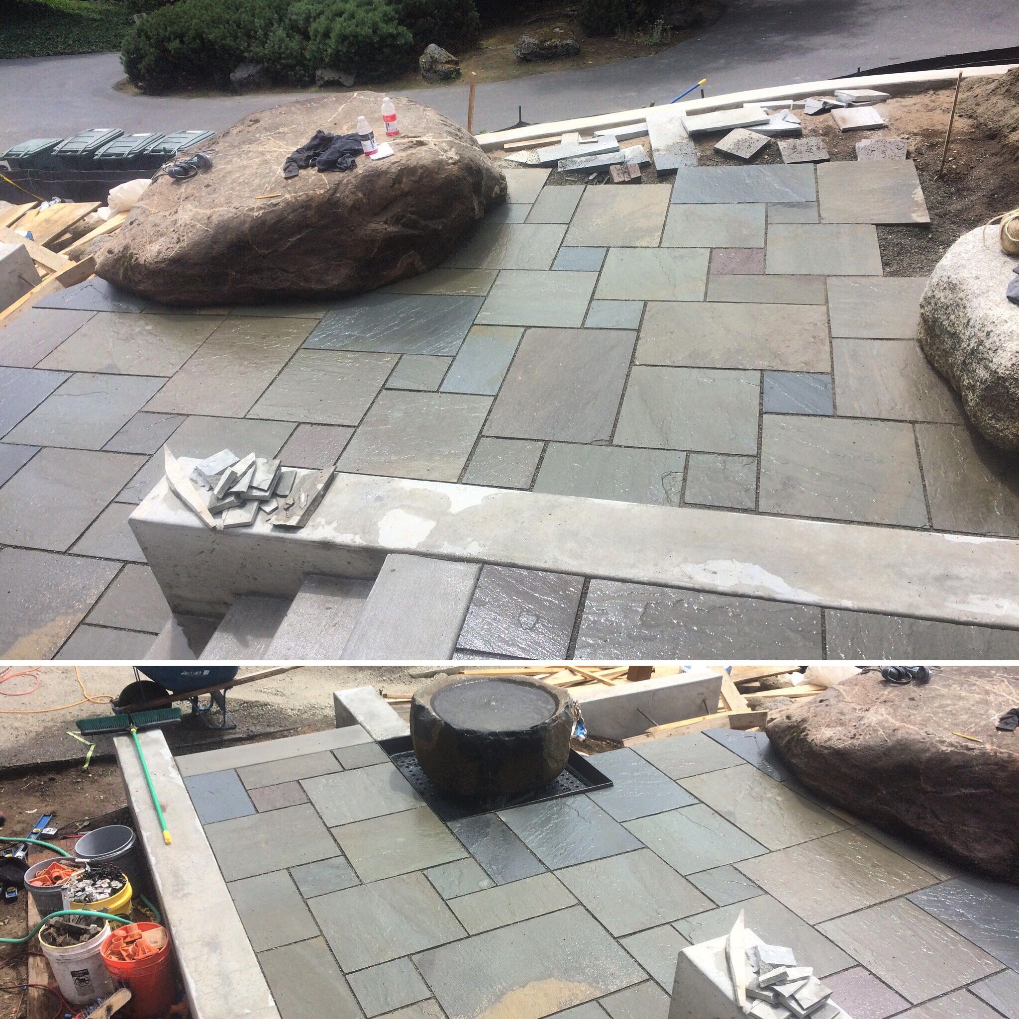 Stone fire pit designs patio traditional with artistic hardscape - Patio Livin Jrrockscapes Snoqualmie Pnw Hardscape Rocks Landscape