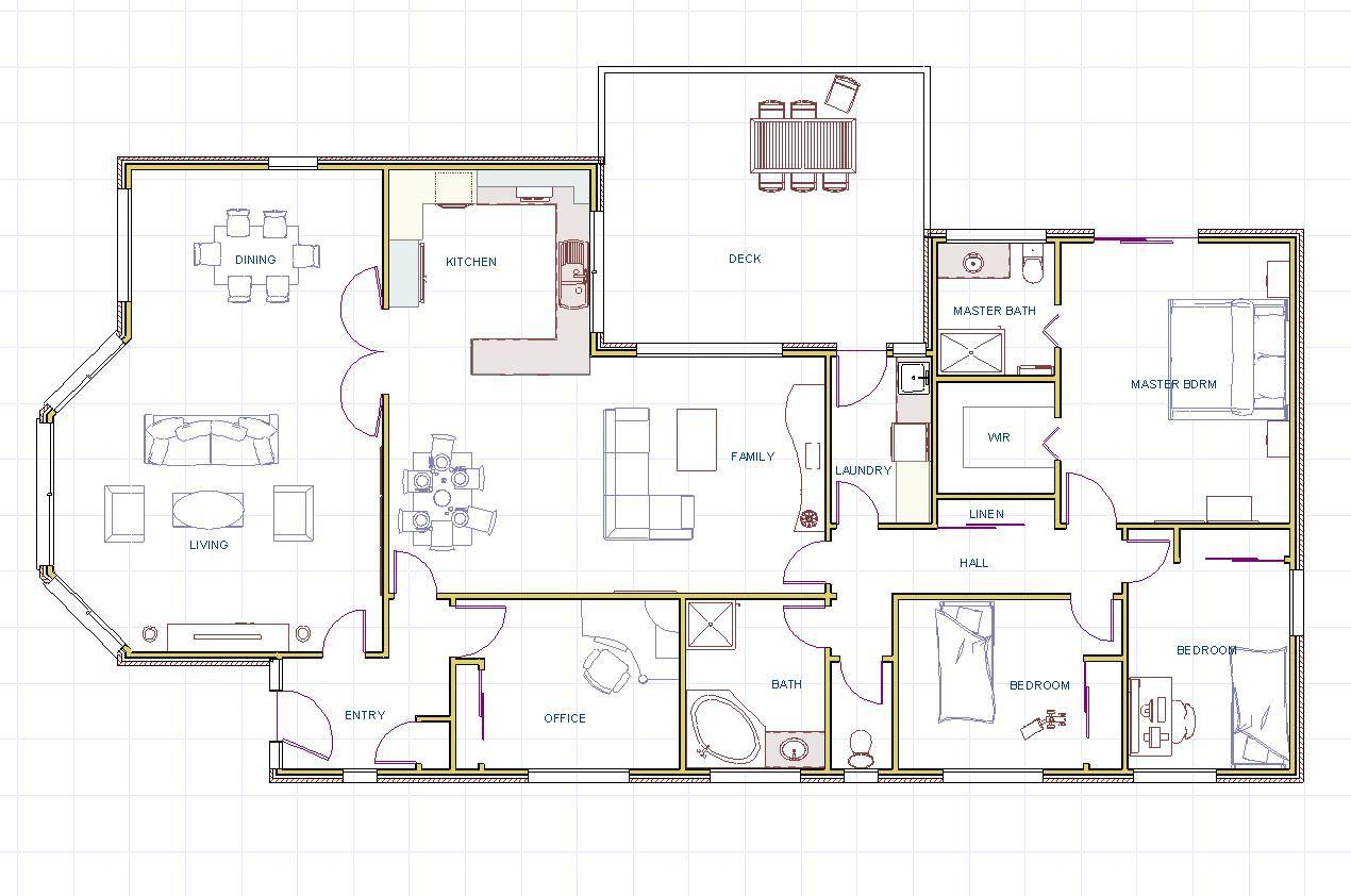 contemporary beach house plan