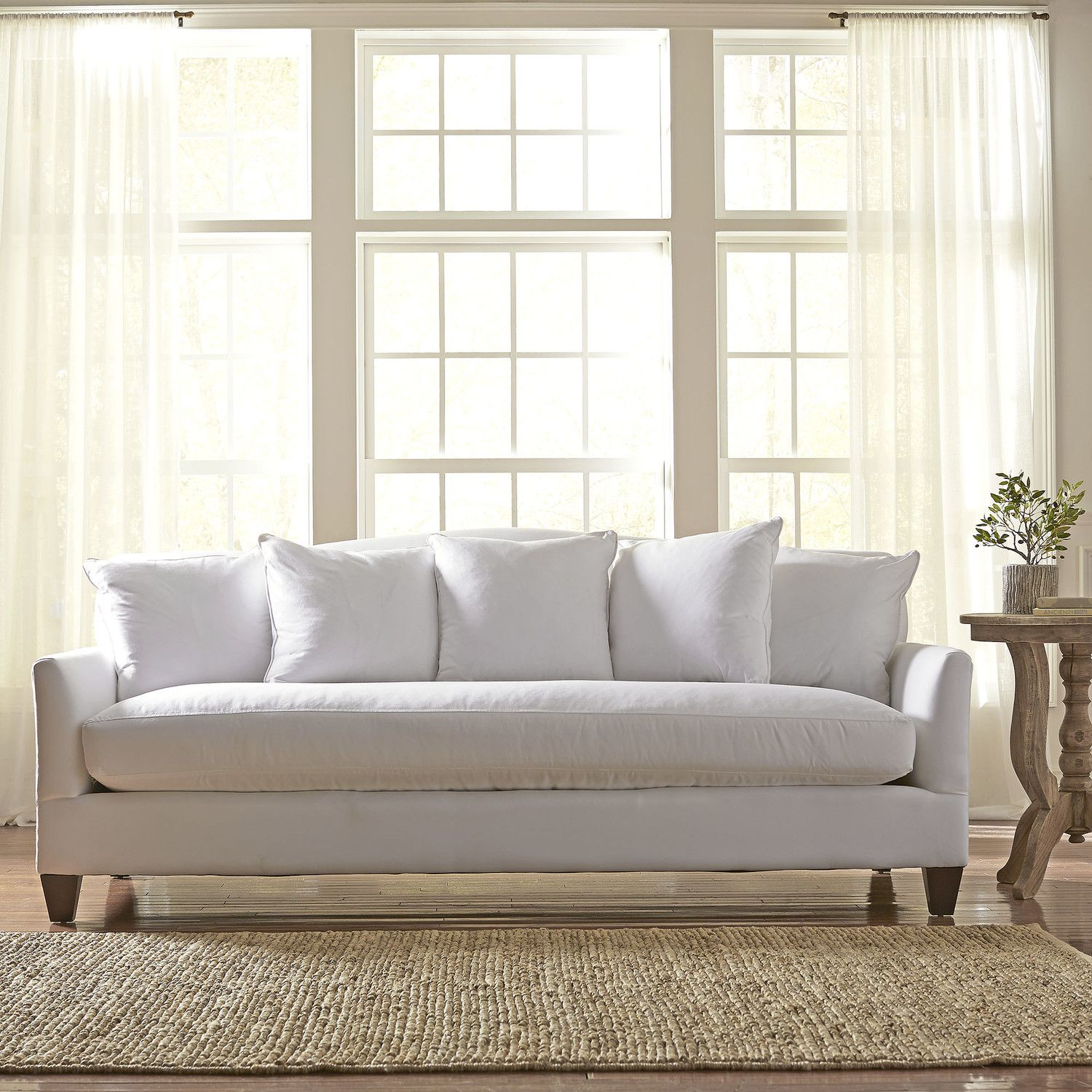 Birch Lane Fairchild Sofa Color Bailey Papyrus Blended Linen