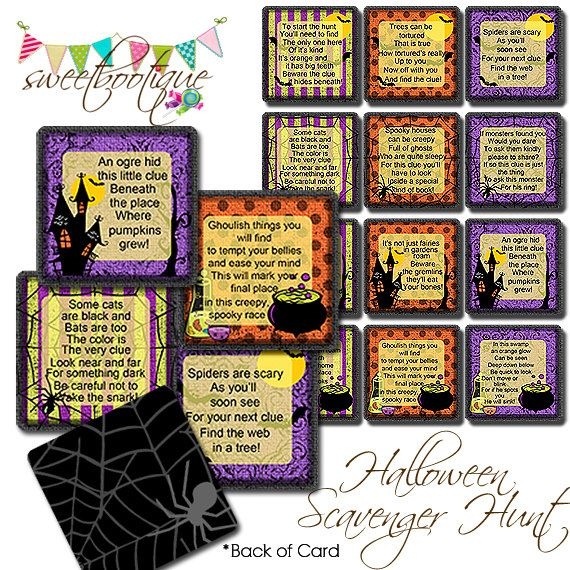 Halloween Printable Games Halloween scavenger hunt