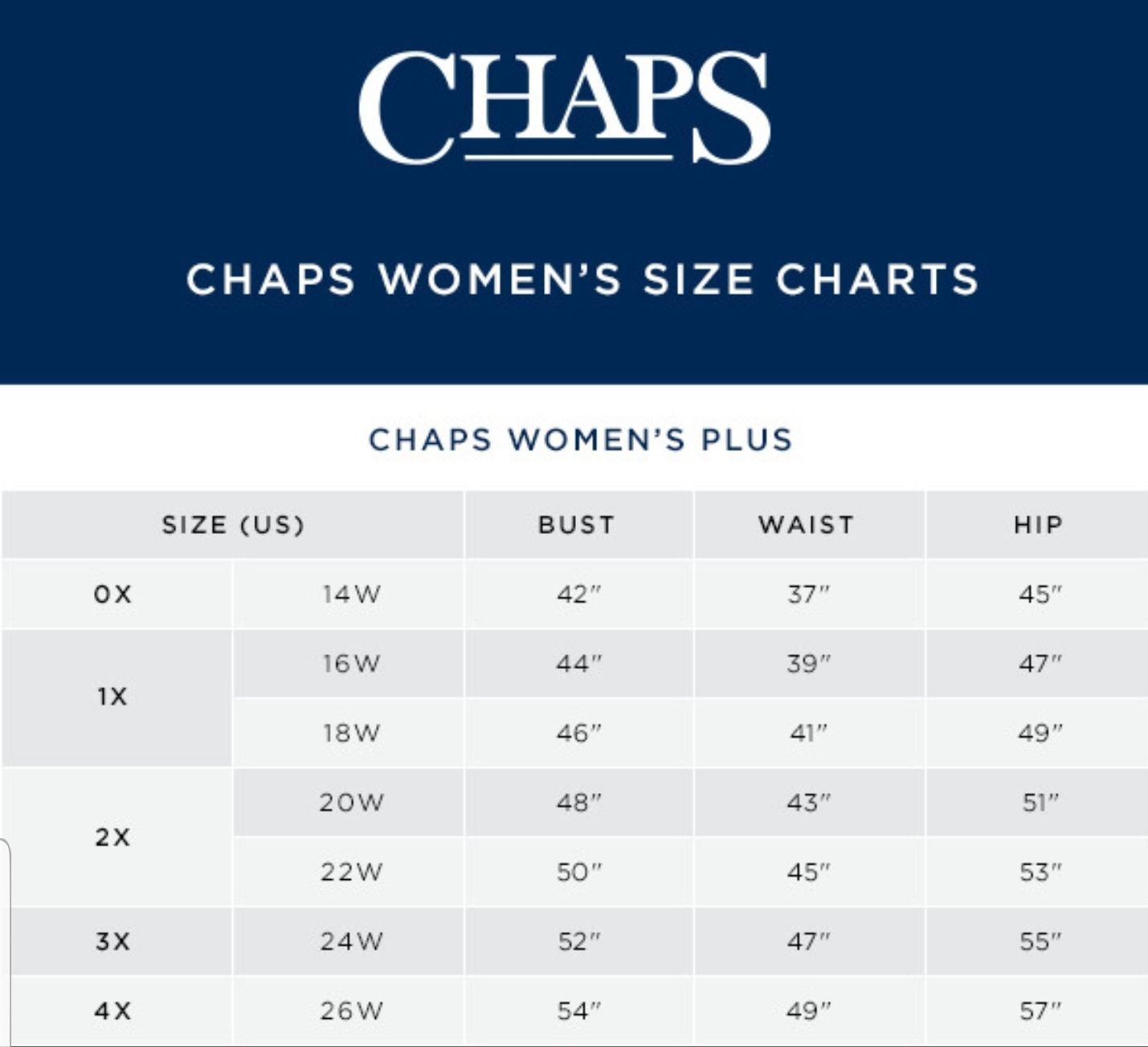 Pin On Name Brand Clothing Size Charts