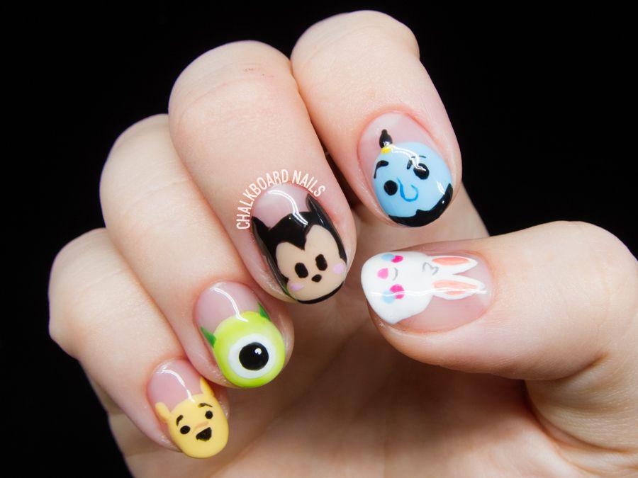 Disney Tsum Tsum Character Nail Art Disney Acrylic Nails Cartoon Nail Designs Nail Art Disney
