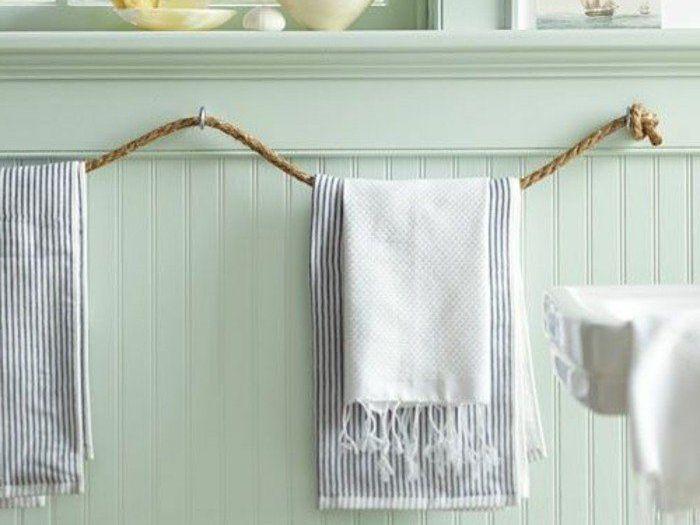 Salle de bains  inspirations pour fabriquer votre porte-serviettes - Porte Serviette A Poser