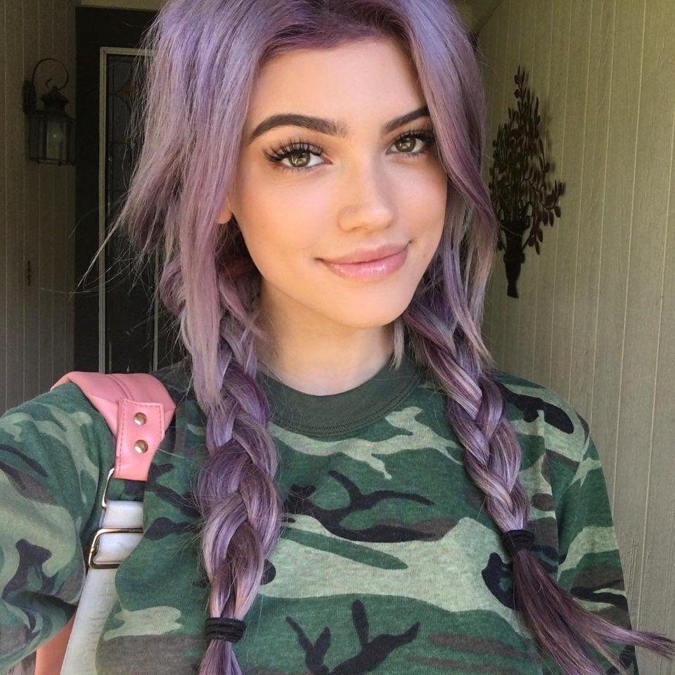 Kelsey Lavender hair, Hair highlights, Cool hair color