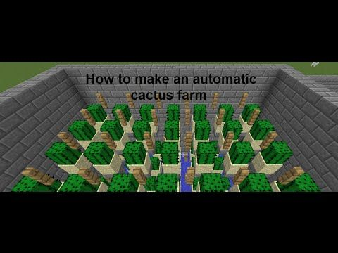 How to make an automatic cactus farm on Minecraft - YouTube