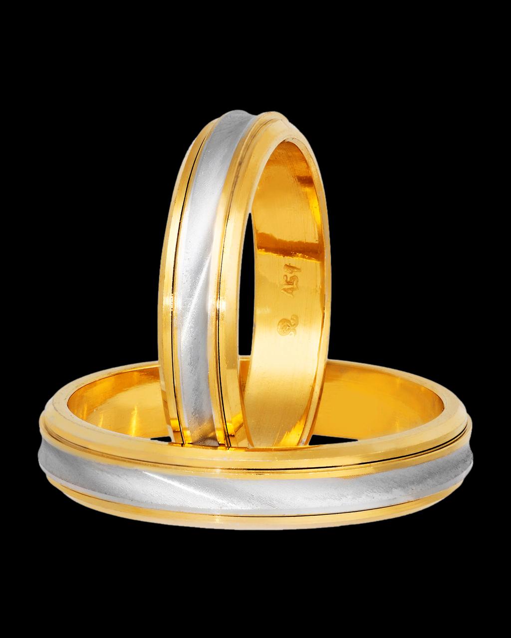848d4d9f72cb Βέρες γάμου δίχρωμες χρυσός   λευκόχρυσος 9Κ-14Κ-18Κ
