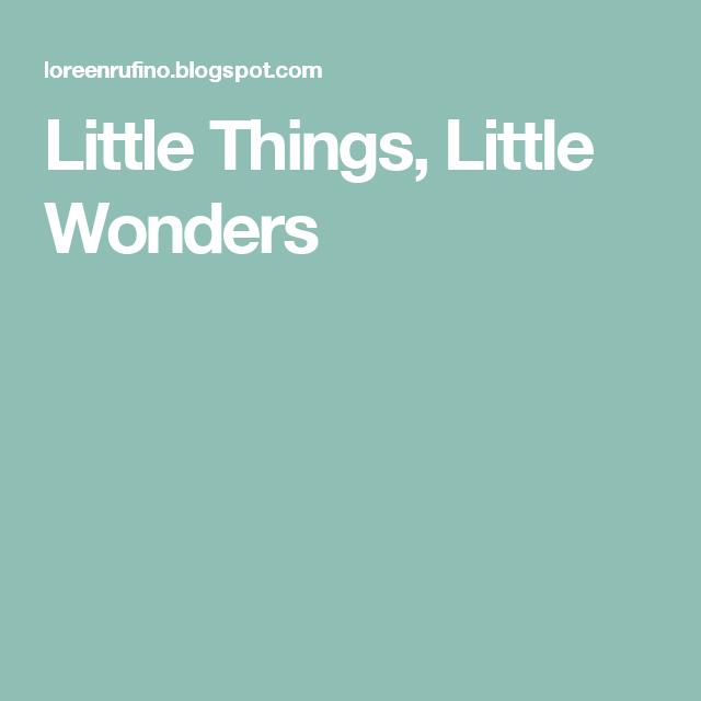 Little Things Little Wonders My Blogs Pinterest