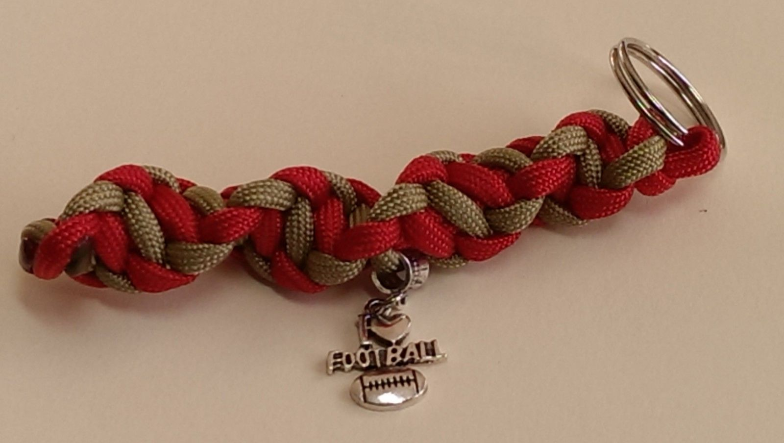 55504c9a9 San Francisco 49Ers Red   Gold Color Themed I Love Football Dna Spiral Key  Chain