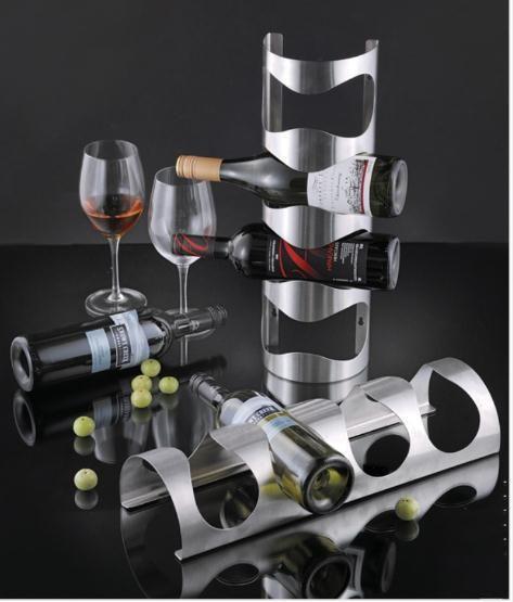 IKEA wine rack 4 bottle stainless steel wall mount bar holder VURM NEW