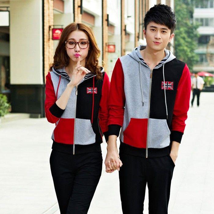 Girlfriend Boyfriend Matching 2 Piece Hoodie Suit for Two