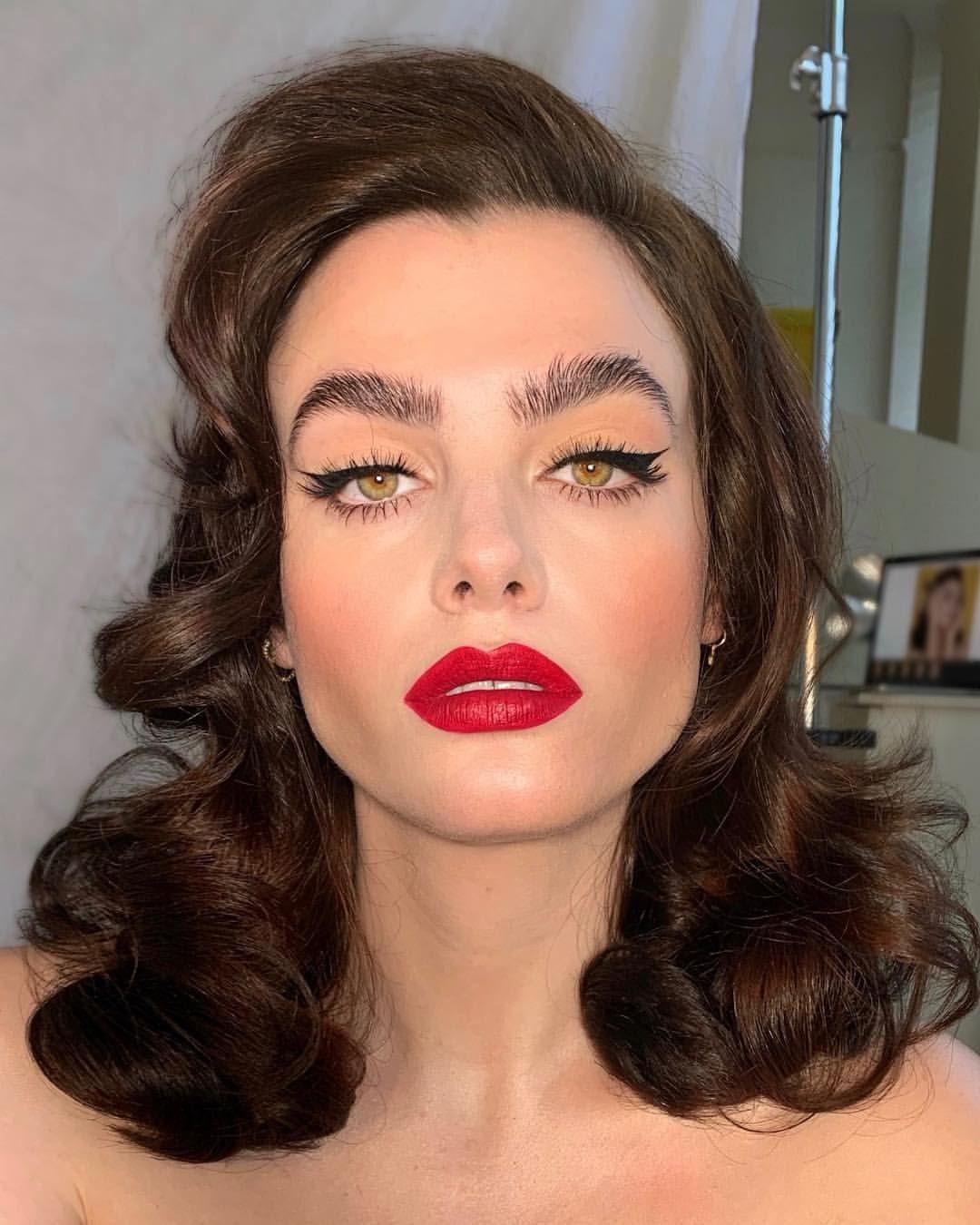 The divine charlihoward Lip is makeup54 DiscoRed ♥️