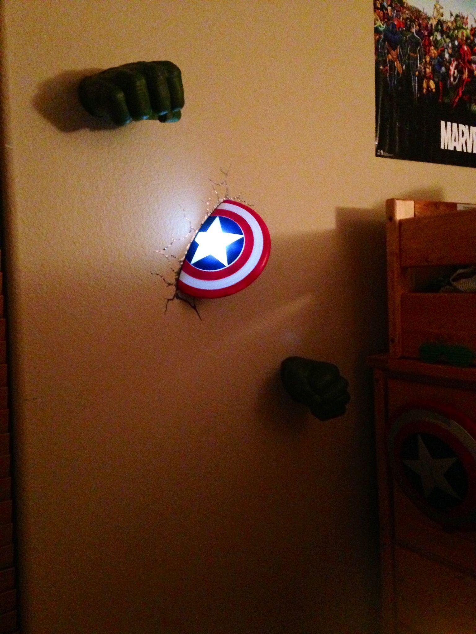 The Coolest Night Light For The Avenger Fans Boys Room