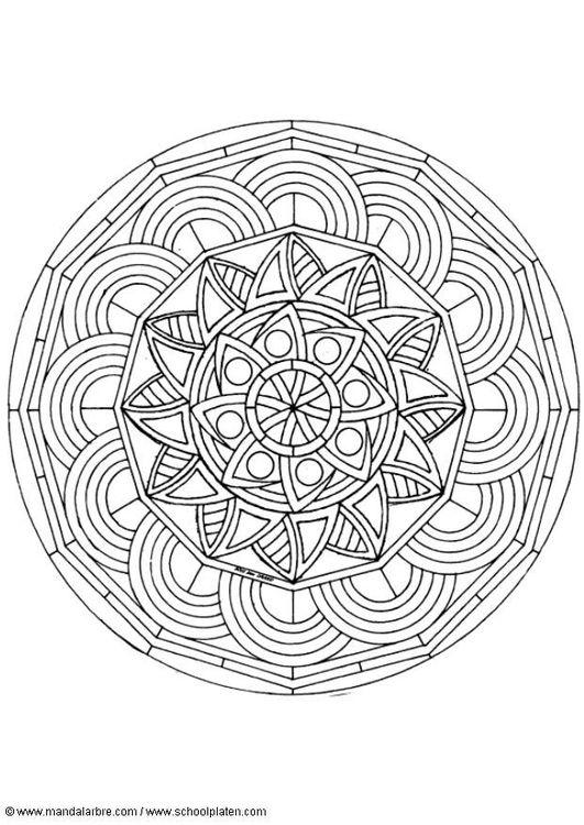 Kleurplaat mandala-1602o
