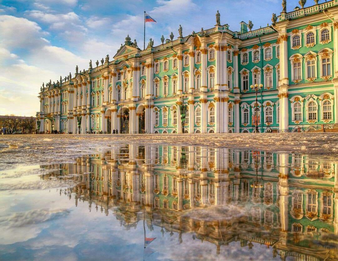 Reflection Of The Winter Palace St Petersburg Krasivye