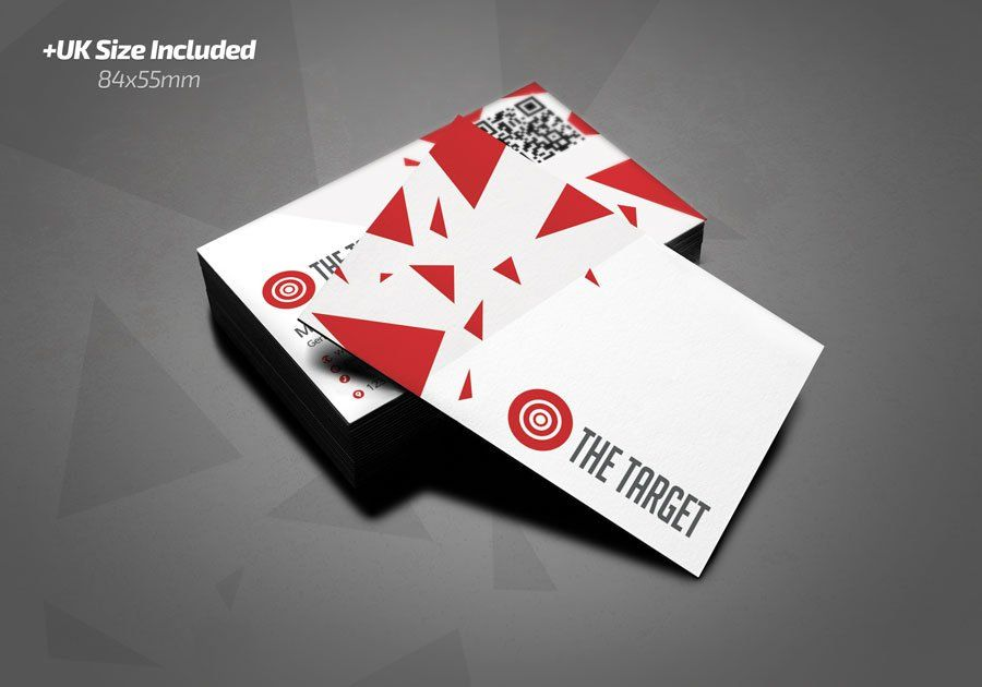 The Target Business Card Beauty Business Cards Unique Business Cards Business Card Template
