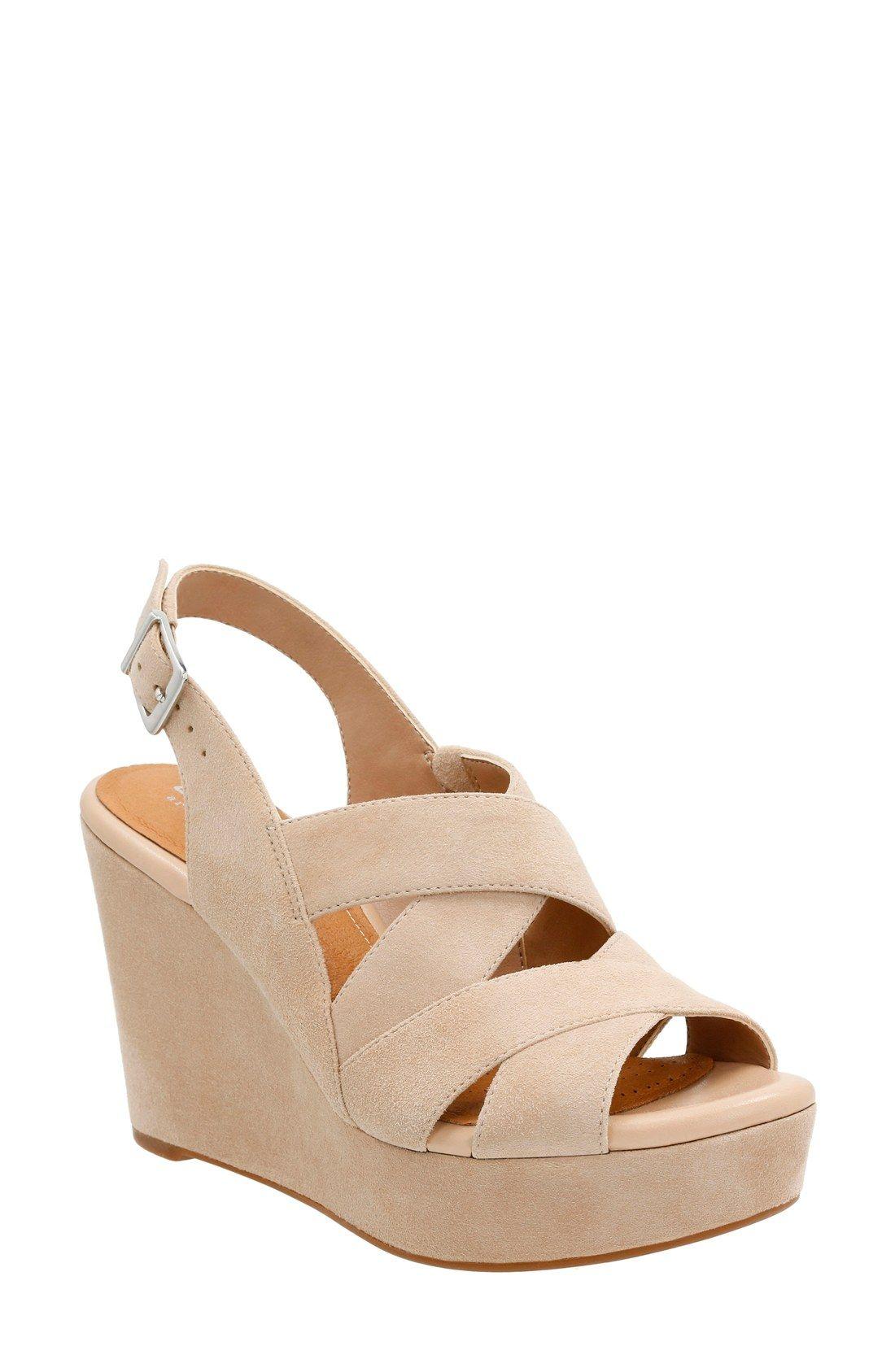db2a5afbf94d Clarks®  Amelia Alice  Slingback Wedge Sandal (Women)